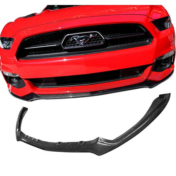 15-17 Mustang PERFORMANCE STYLE FRONT LIP JPM - CARBON FIBER (Fits all models)