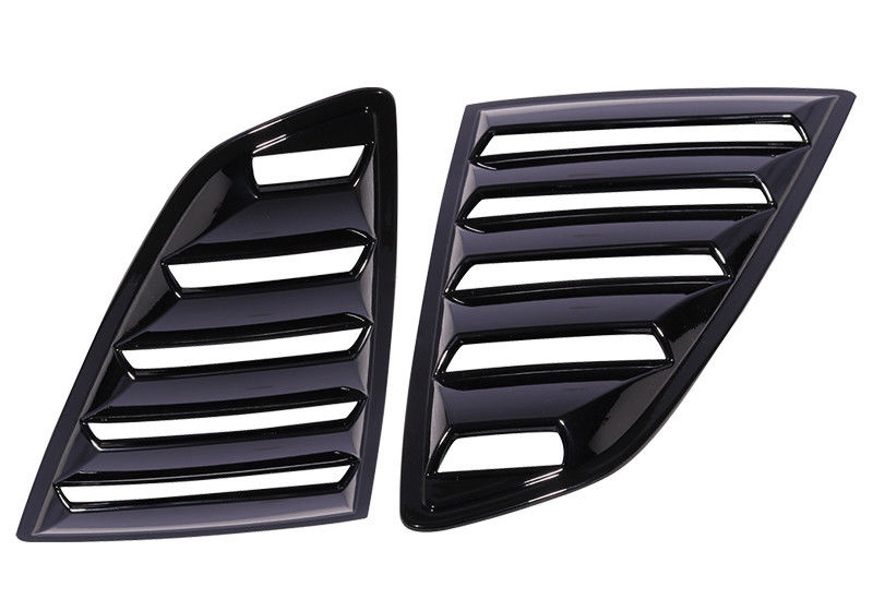2015-2018 Mustang Quarter Window Louvers - OPEN VENT - Polyurethane GLOSSY BLACK UA