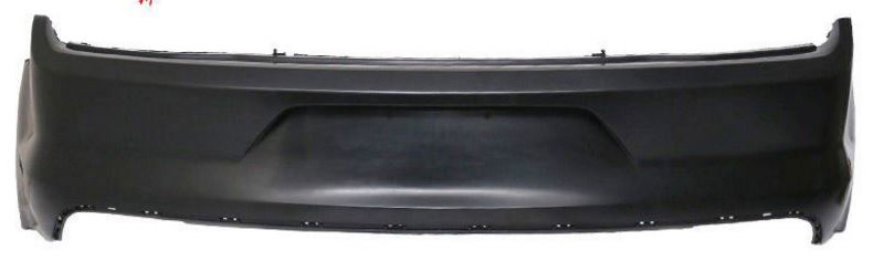 15-17 Mustang GT350 Style Rear Upper Bumper W/No Valance - Polypropylene Plastic (Replacement Performance Pack Rear)