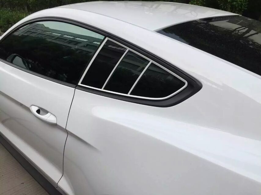 2015-18 Mustang Quarter Window Trim kit Paint Ready (Fits all 2015-18 Models)