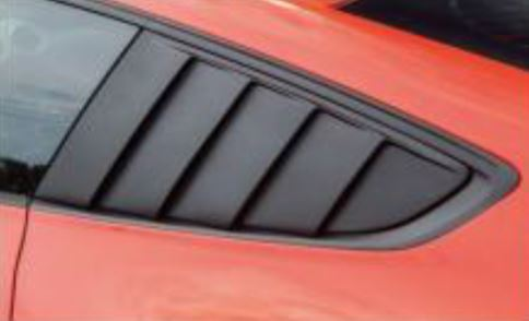 2015-17 Mustang Upper Quarter Window Louvers - PAIR - Polyurethane