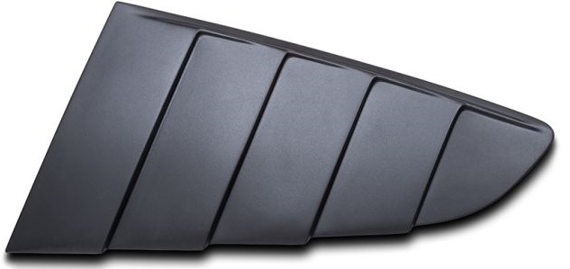 2015-18 Mustang Upper Quarter Window Louvers - PAIR - Polyurethane