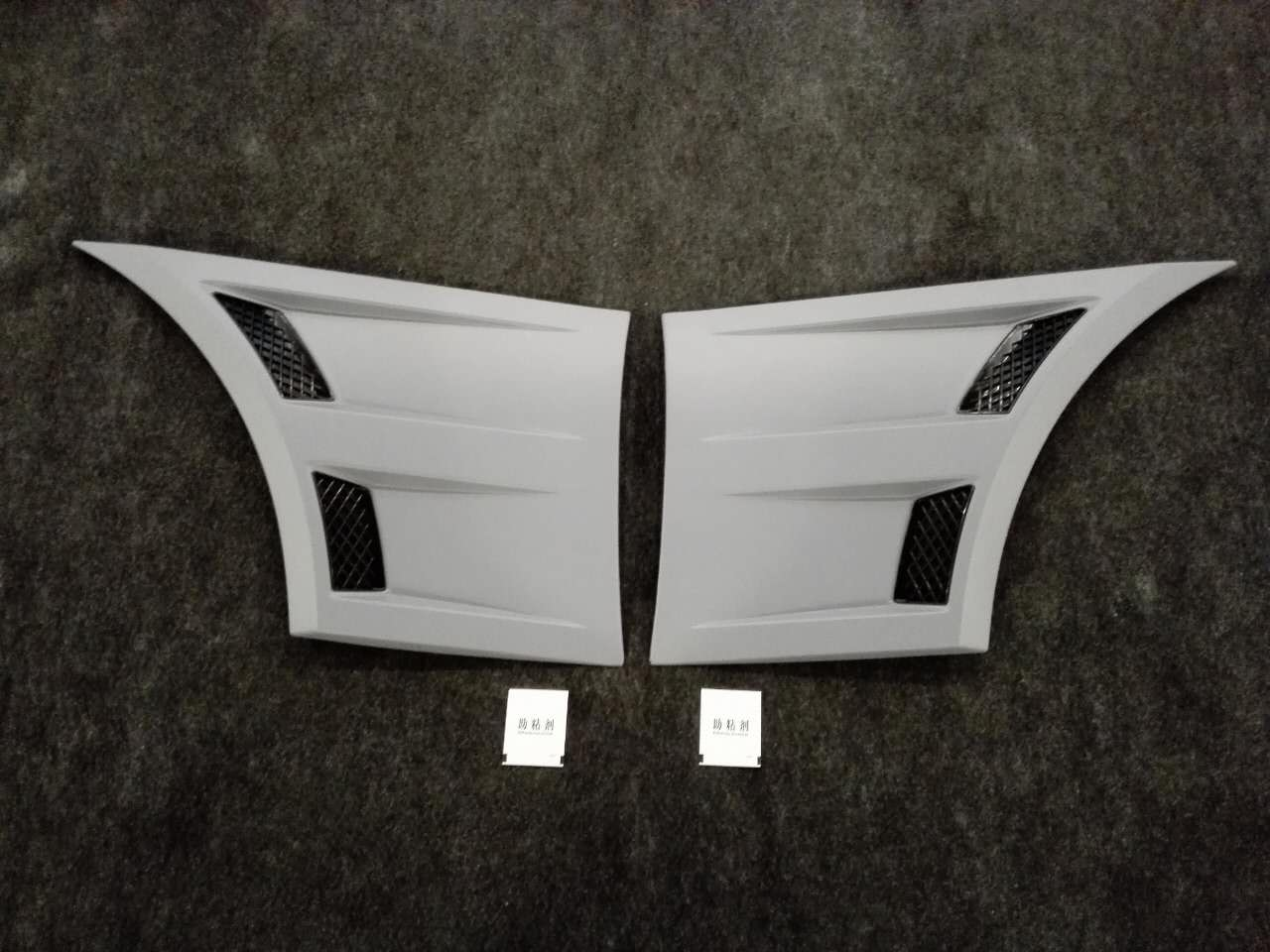 2015-17 Mustang Front Fender Scoop Vents Type 3D - PAIR - Polyurethane