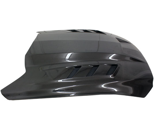 2015-2017 Mustang Terminator Style Carbon Fiber Hood by VIS (Fits all 2015 Models) CARBON FIBER