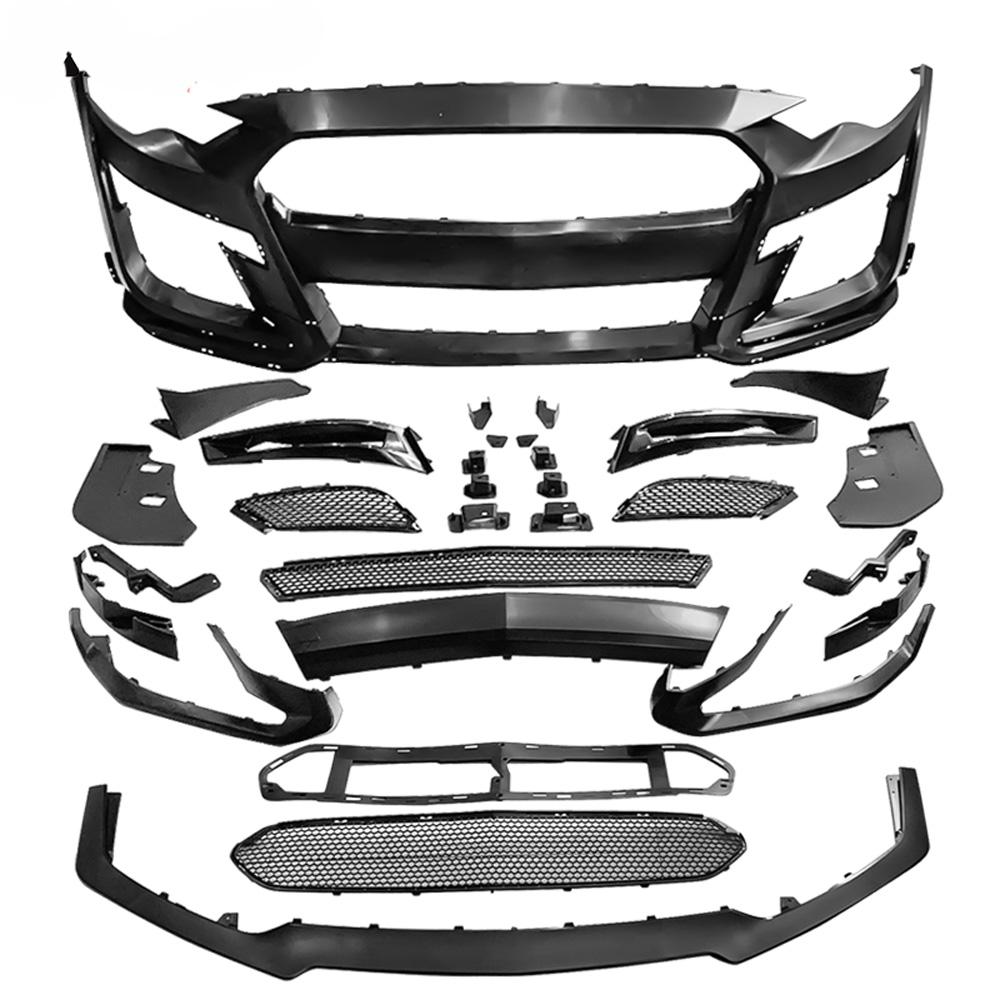 *2018-21 Mustang GT500 Style (2020 Style) Front bumper with Front lip - Polypropylene (Fits ECO, GT & V6)