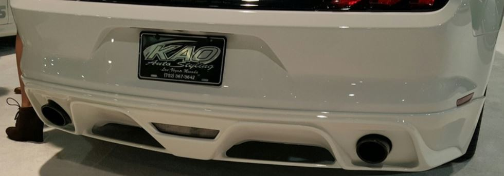 2015-17 Mustang Razzi Rear Bumper AERO-FLEX ABS Plastic GT/V6/ECO (PAINT OPTIONS)