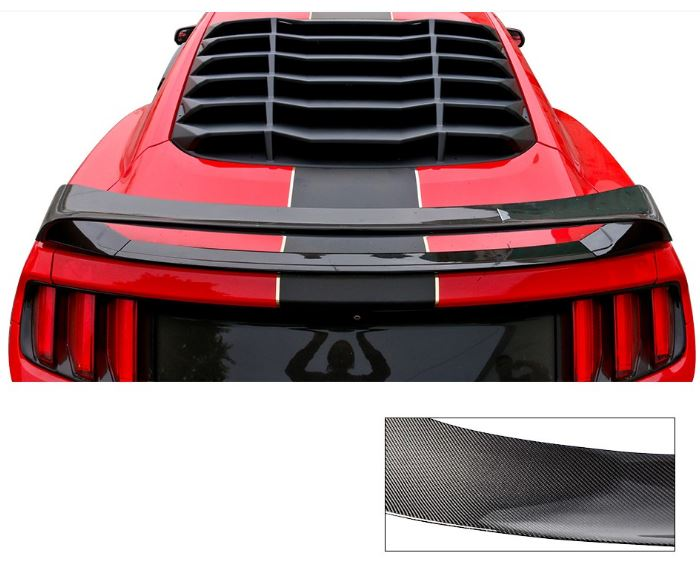 2015-19 Mustang Coupe GT350 R Style V2 Wing CARBON FIBER
