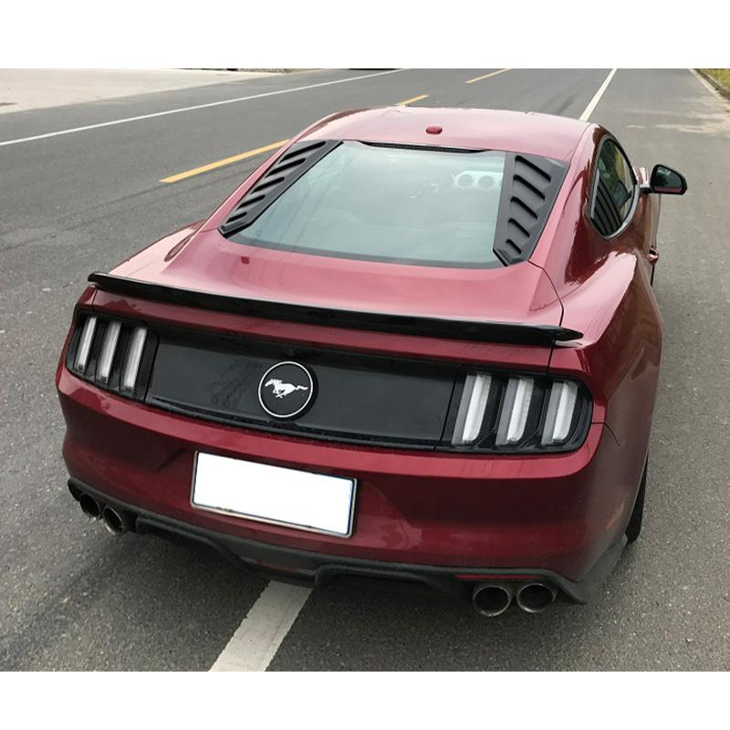 2015-20 Mustang Rear Window Louvers 2PC Can Style - ABS Plastic