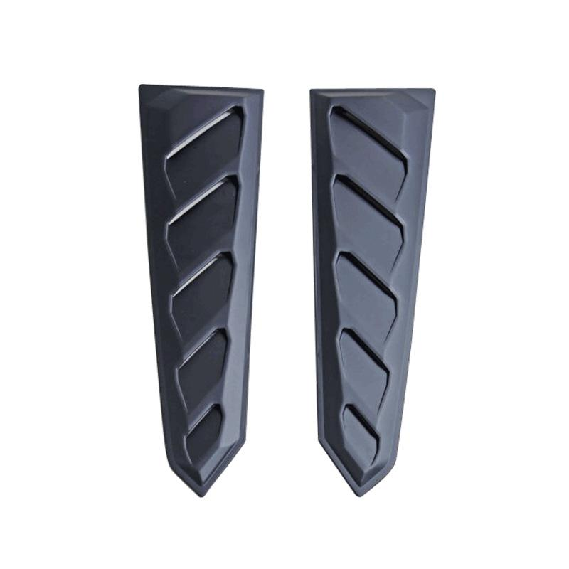 2015-18 Mustang Rear Window Louvers 2PC Can Style - ABS Plastic