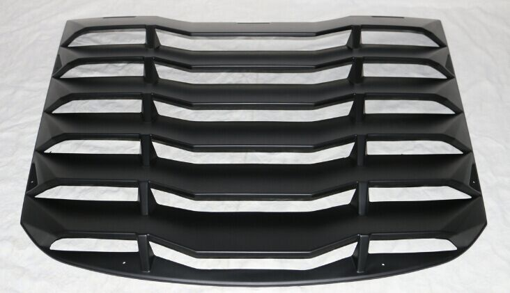 2015-18 Mustang Rear Window Louvers Style IK1 Style - ABS Plastic
