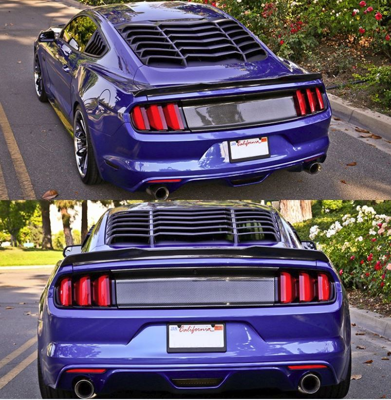 2015-18 Mustang Rear Window Louvers Style IK2 Style - ABS Plastic