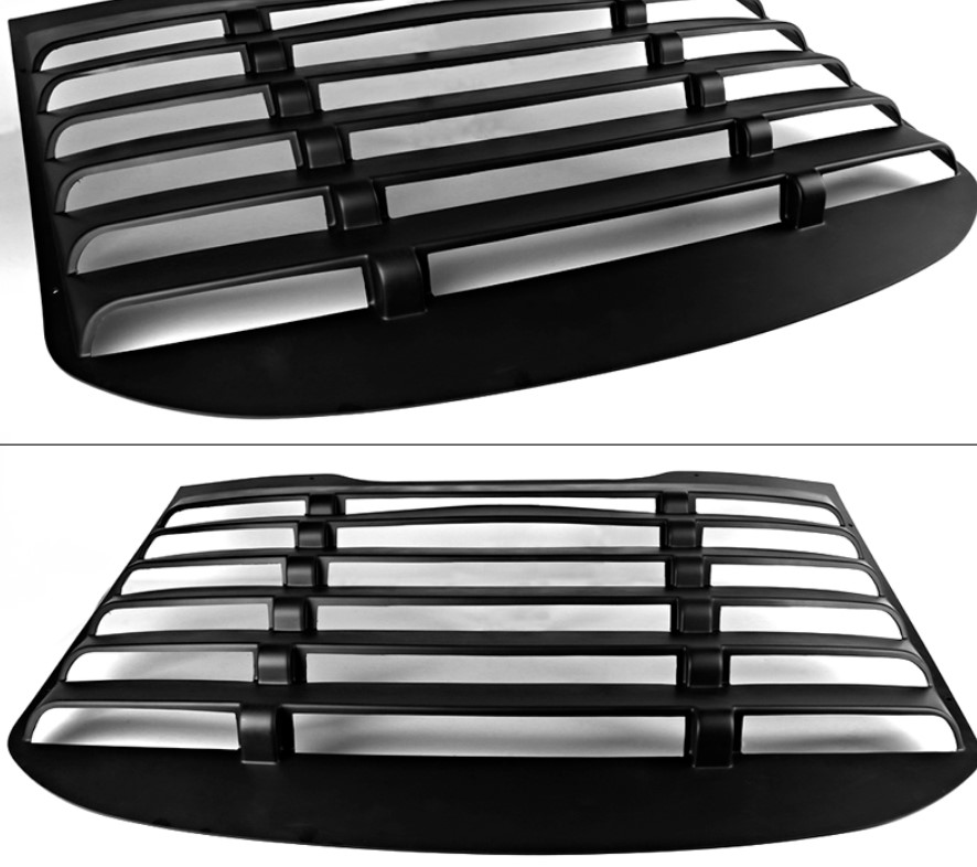 2015-20 Mustang Rear Window Louvers Style IK-E Style - ABS Plastic