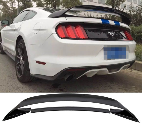 2015-18 Mustang Coupe GT350 GT350R Style Wing PAINTED GLOSSY BLACK