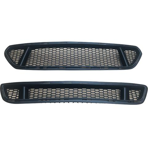 2015-2017 Mustang K Style GT Upper & Lower Grille - Polyurethane (Fits all models)