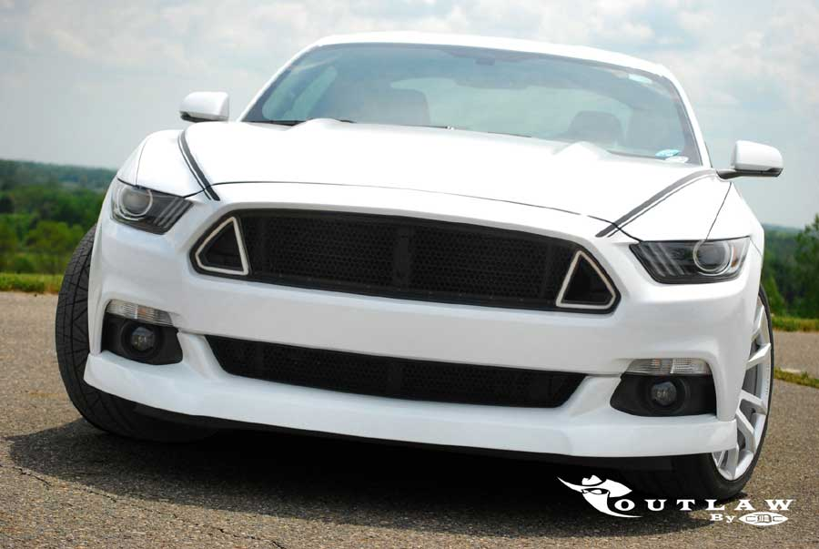 2015-2017 Mustang CDC Outlaw Switchback Upper Grille w/ DRL Lights (Fits all models)