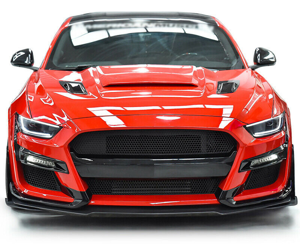 *15-17 Mustang GT500 Style (2020 Style) Mustang Front bumper with Front lip - Poly (Fits all models) (Paint Options)