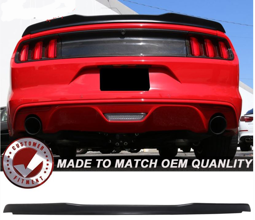 2015-19 Mustang Coupe Type H High Kick back V Wing Paint Ready Primer (Paint Options)