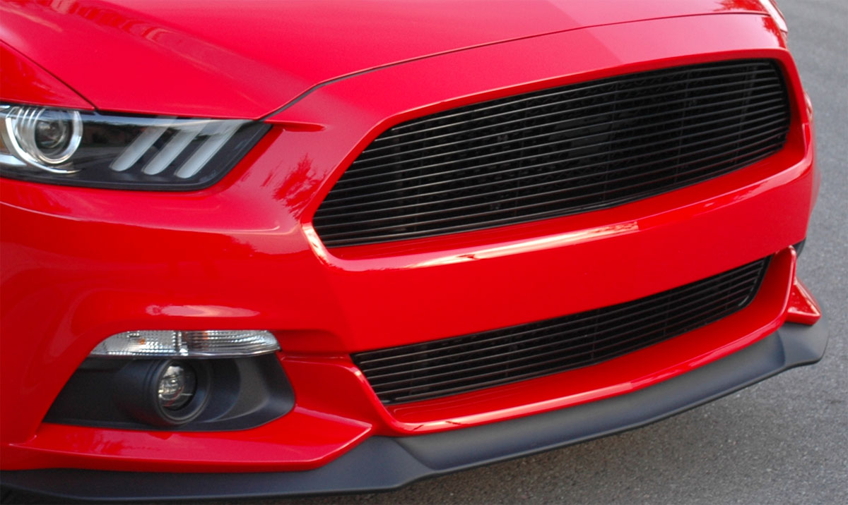 2015-2017 - 1PC Upper Billet Grille - BLACK (GT, V6, ECO BOOST, 50th)