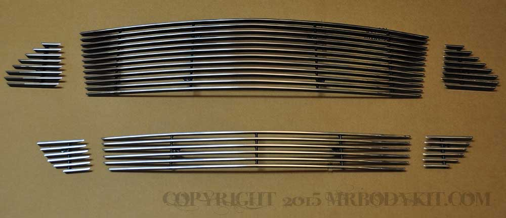 2015-2017 - 6PC Upper / Lower Billet Grille kit - POLISHED (GT ONLY) (3pc Upper & 3pc Lower)