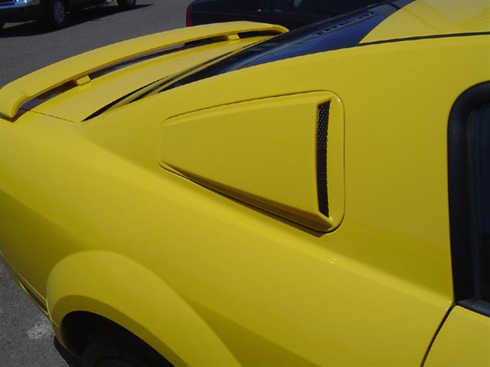 2010-14 Mustang V6 & GT - SALE Upper Scoops ABS PLASTIC (PAIR)