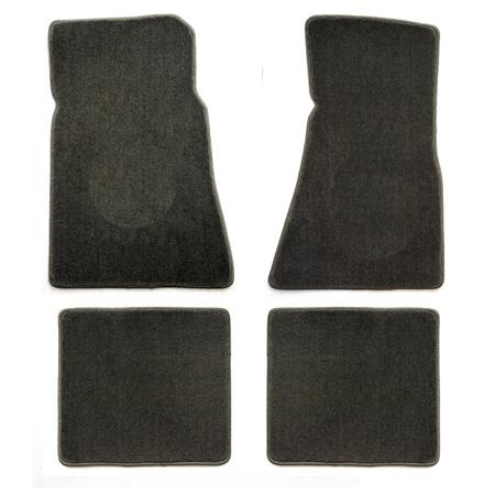 1979-1993 Mustang Coupe + Convertible Floor Mats - Grey - No Emblem