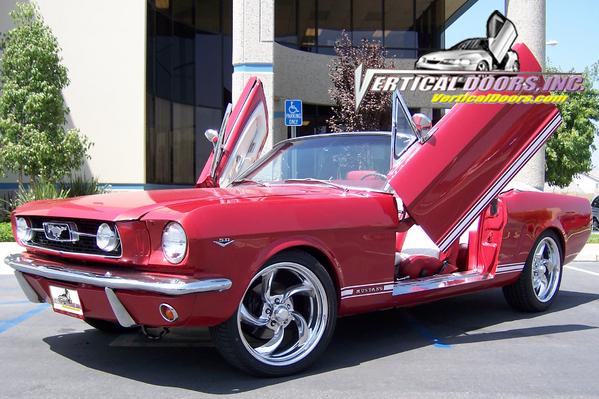 1964 1/2 - 1966 Mustang VERTICAL DOOR KIT system (Direct Bolt on) larger image & 1964 1/2 - 1966 Mustang VERTICAL DOOR KIT system (Direct Bolt on ... Pezcame.Com