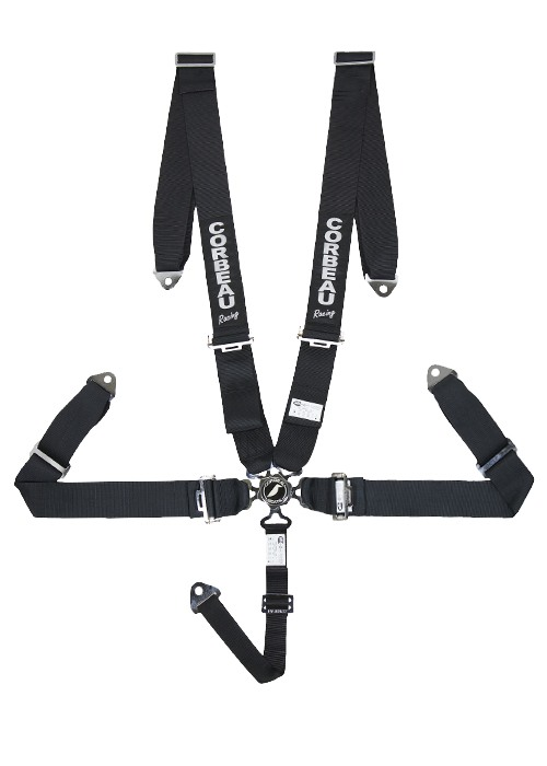 Corbeau 3 Inch Harness Belts - 5 Point Bolt-In Camlock - Black