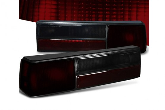 83-93 Mustang Taillights OEM Style SMOKED RED (Pair)