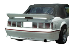 1979-1993 Mustang SLN Trunk/Convertible Wing WITH BRAKE LIGHT HOLE