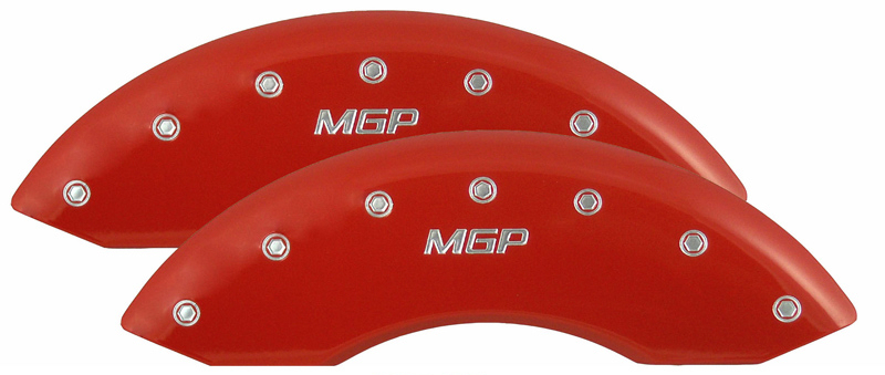 1979-1993 Mustang GT/V6 Caliper Cover (2 PC Front Kit) - RED - MGP Logo