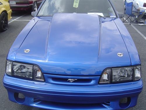 87 93 Mustang 3 Inch Cowl Hood Fiberglass