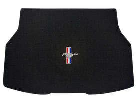 1987-1993 Mustang Coupe TRUNK Mats - Black (3 Emblem Options)