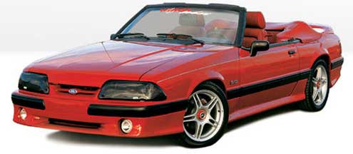 87-93 Mustang COBRA STYLE- Side Skirts - Passenger / Driver Side - Fits GT / LX (Urethane)