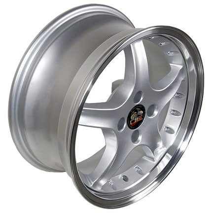 "COBRA R Motorsports - SILVER- 4 Lug 79-93 (sizes available 17x8 & 17x9"")"