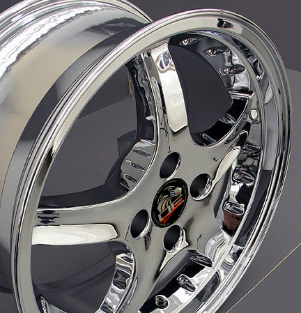 "COBRA R Motorsports - CHROME - 4 Lug 79-93 (sizes available 17x8 & 17x9"")"