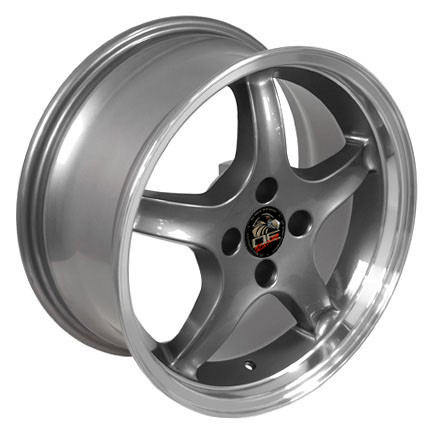 "COBRA R - GUN METAL - 4 Lug 79-93 (sizes available 17x8 & 17x9"")"