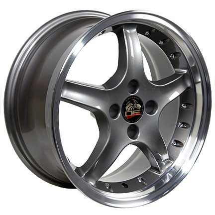 "COBRA R Motorsports - Anthracite - 4 Lug 79-93 (sizes available 17x8 & 17x9"")"
