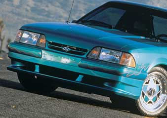 87-93 Mustang XENON - Front Add-on Valance - Fits LX only (Urethane)