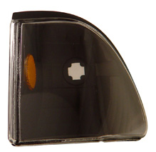 87-93 Mustang Outside Corner Lights - Black - With Amber (Pair)