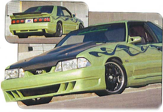 87-93 Mustang DEMON - 4pc Body kit - Fits GT / LX (Urethane)