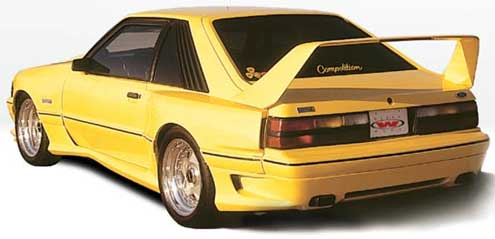 87-93 Mustang DOMINATOR - 10pc Body kit - Fits to LX bumpers only (Fiberglass)