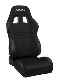 Corbeau A4 Black Cloth Racing Seat