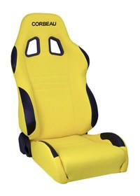 Corbeau A4 Yellow Cloth Racing Seat