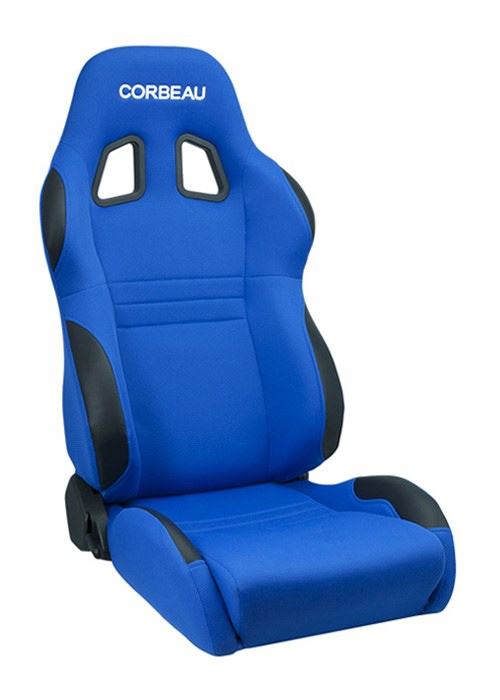 Corbeau A4 Blue Cloth Racing Seat