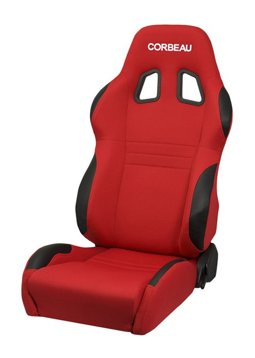 Corbeau A4 Red Cloth Racing Seat