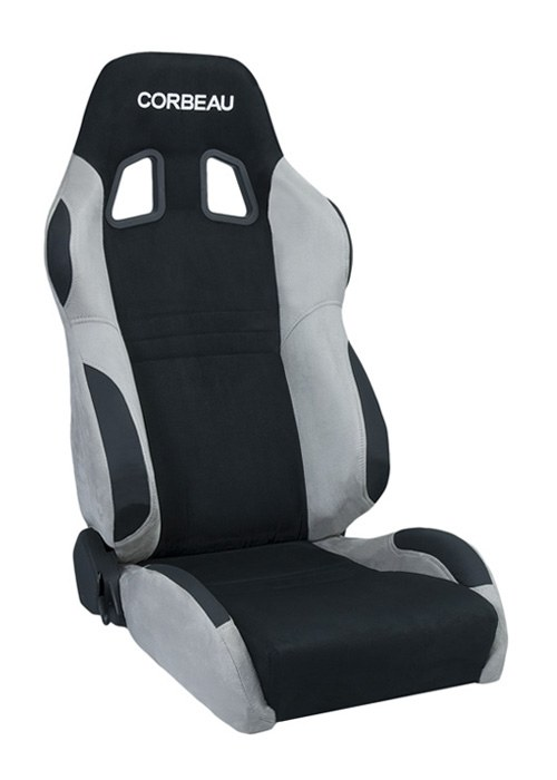 Corbeau A4 Black/Grey Microsuede Racing Seat