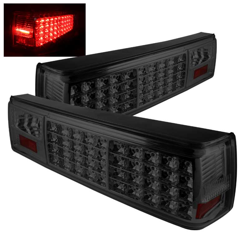 87-93 Mustang Taillights LED Gen 1 - SMOKED (Pair)