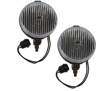 87-93 Mustang Fog Lights - OEM BLACK (Pair)