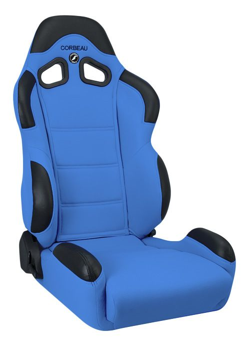 Corbeau CR1 Blue Cloth Racing Seat - Wide Version