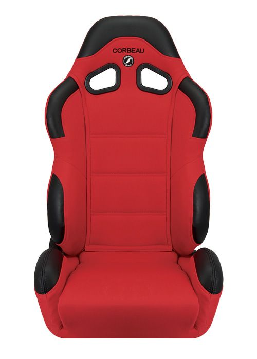 Corbeau CR1 Red Cloth Racing Seat - Wide Version